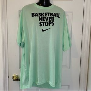 Nike Dri-Fit T shirt Basketball Never Stops Sz 4XL